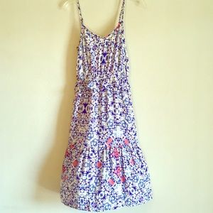 Mossimo Floral Tank Sundress Tiered Stretch Dress
